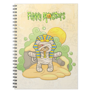 Teddy bear mummy spiral notebooks