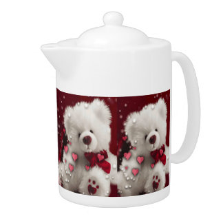 Teddy Bear N Hearts  Teapot