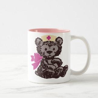 Teddy Bear Nurse (Pink) Coffee Mug