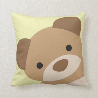 Teddy Bear Nursery Decorative Pillow Yellow
