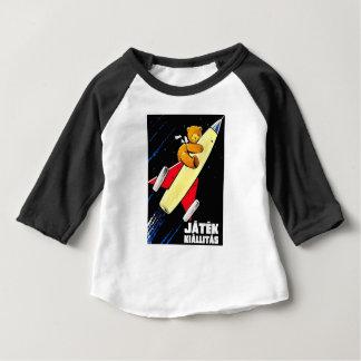 Teddy Bear On A Rocket Vintage Hungarian Toy Fair Baby T-Shirt