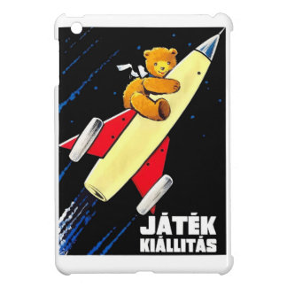 Teddy Bear On A Rocket Vintage Hungarian Toy Fair iPad Mini Covers