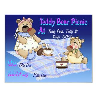Teddy Bear Picnic 11 Cm X 14 Cm Invitation Card