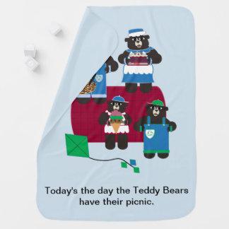Teddy Bear Picnic Baby Blanket