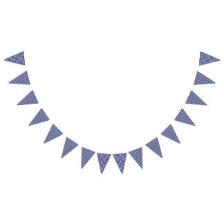 Teddy Bear Picnic Birthday -Blue Gingham Bunting
