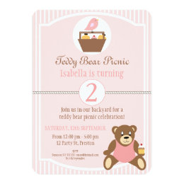 Picnic birthday invitations announcements zazzle teddy bear picnic birthday party invitation filmwisefo Image collections