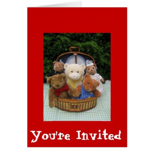Teddy Bear Picnic Card