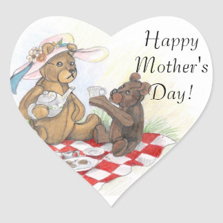 Teddy Bear Picnic~ happy mother's day Stickers