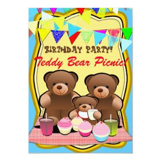 Teddy Bear Picnic Kids Party Card