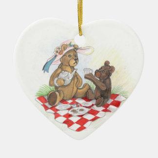 Teddy Bear Picnic~ornament Ceramic Heart Decoration