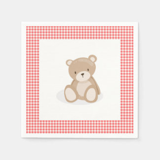 Teddy bear picnic Paper Napkin Red gingham Picnic