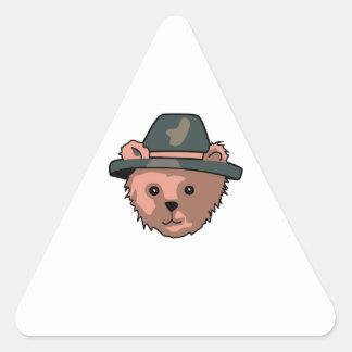 TEDDY BEAR PILGRIM TRIANGLE STICKERS