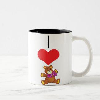 teddy-bear,pink coffee mug
