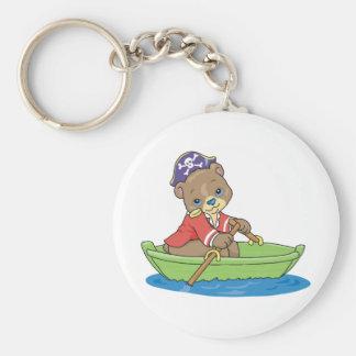 Teddy Bear Pirate Key Chain