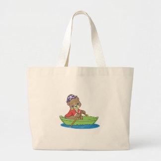 Teddy Bear Pirate Jumbo Tote Bag