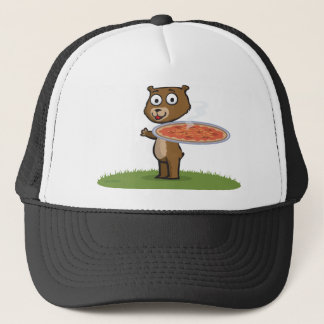 Teddy Bear Pizza Trucker Hat