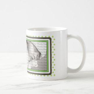 Teddy Bear Polkadot Baby Mug Gift :: lime green