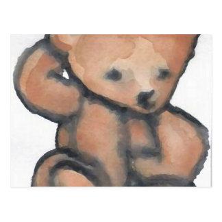 Teddy Bear Pondering CricketDiane Designer Stuff Postcard