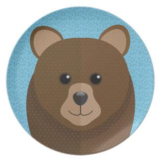 Teddy Bear portrait Plate