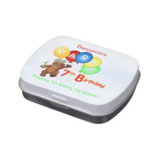 Teddy Bear Prince 7th Birthday Party Jelly Belly Tin