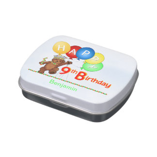 Teddy Bear Prince 9th Birthday Jelly Belly Candy Tins
