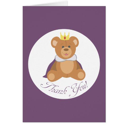 Teddy Bear Prince (Thank you!) Card