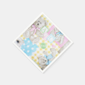 Teddy Bear Print Napkins Disposable Napkin