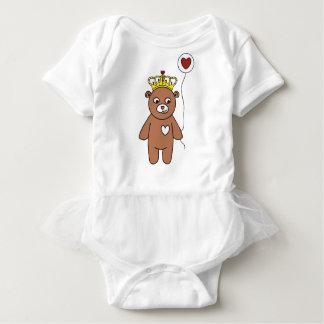 teddy bear queen baby bodysuit