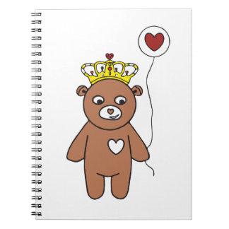 teddy bear queen notebook