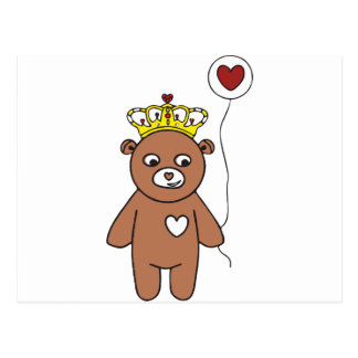 teddy bear queen postcard