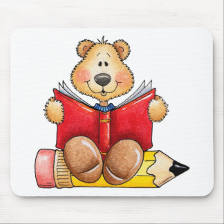 Teddy Bear Reading Mouse Pad