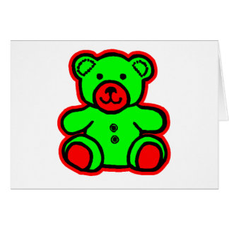 Teddy Bear Red Green The MUSEUM Zazzle Gifts Card