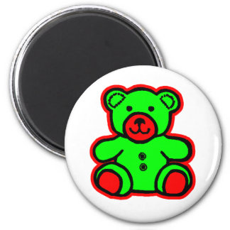 Teddy Bear Red Green The MUSEUM Zazzle Gifts Magnet