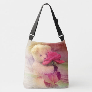 Teddy Bear Rose Crossbody Bag