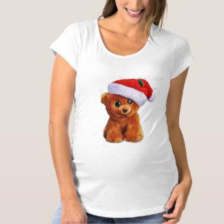 Teddy Bear Santa Maternity T-Shirt