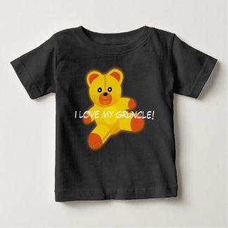 """Teddy Bear says, """"I Love My Gruncle"""" Baby T-Shirt"""