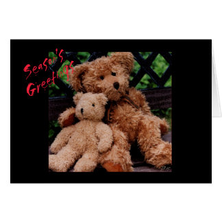Teddy Bear Season's Greeting Holiday Card jjhelene