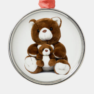 teddy bear Silver-Colored round decoration