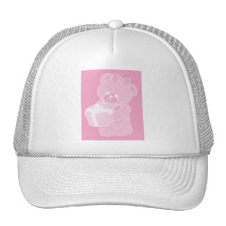 Teddy Bear, Standing, Pale Pink for Girls Mesh Hat