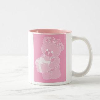 Teddy Bear, Standing, Pale Pink for Girls Mug
