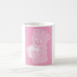 Teddy Bear, Standing, Pale Pink for Girls Coffee Mugs