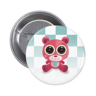Teddy Bear - Star Eye Pink Pin