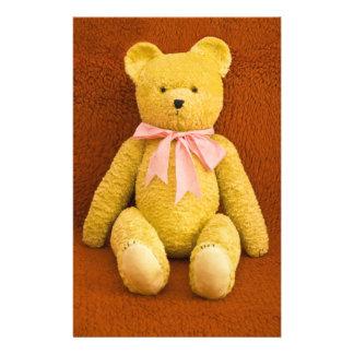 teddy bear stationery paper
