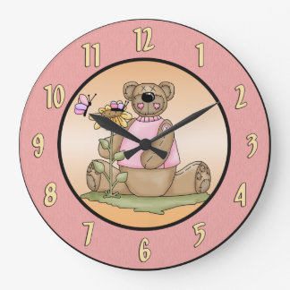 Teddy Bear Summer Wall Clock