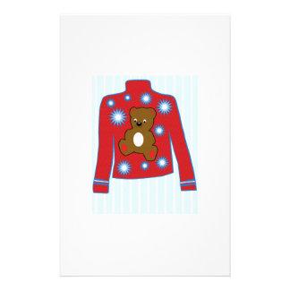 Teddy Bear Sweater Customized Stationery