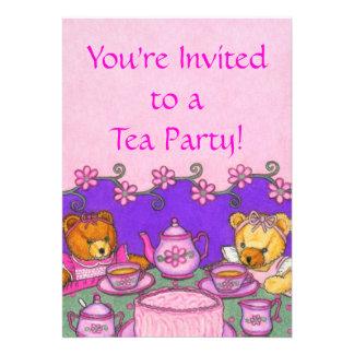 Teddy Bear Tea Party Invitation Cards