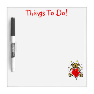 Teddy Bear Things to Do Magnet Board