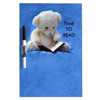 Teddy Bear Time to Read Dry Erase Board