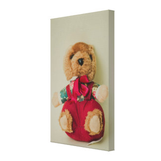 Teddy bear toy gallery wrapped canvas