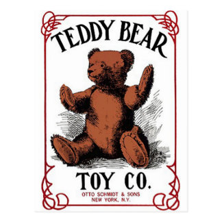 teddy bear toy postcard
